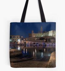 Vittoriosa Slip-way to Senglea by Night ------  Malta Tote Bag