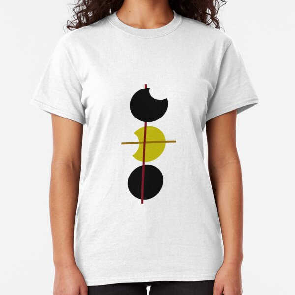Abstract geometric art, circle modern art Classic T-Shirt