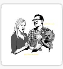 Gott liebt einen Terrier Sticker