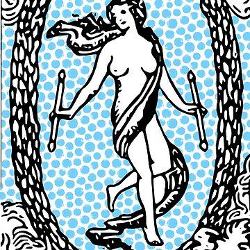 Modern Tarot Print - The World by annaleebeer