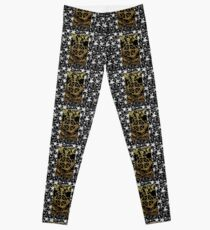 Floral Tarot Print - Wheel of Fortune Leggings