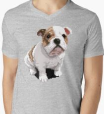 Fiona Pixel Portrait Men's V-Neck T-Shirt