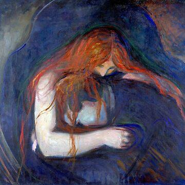 'Vampire' by Edvard Munch (Reproduction) by RozAbellera