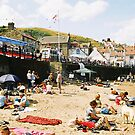 Staithes beach by Jon Tait