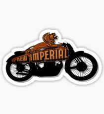 The New Imperial Motorcycle Company Design MotorManiac  Sticker