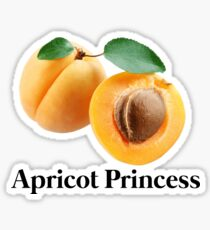 Pegatina princesa albaricoque