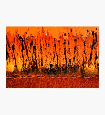 this bin is on fire Photographic Print
