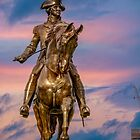 Boston, monument of George Washington. by LudaNayvelt