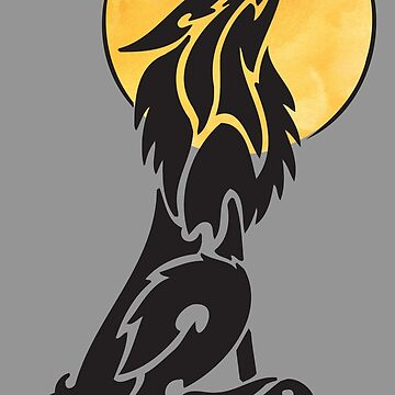 Wolf Howling At Moon by HolidayT-Shirts