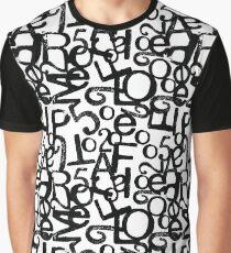 Typographic melange Graphic T-Shirt