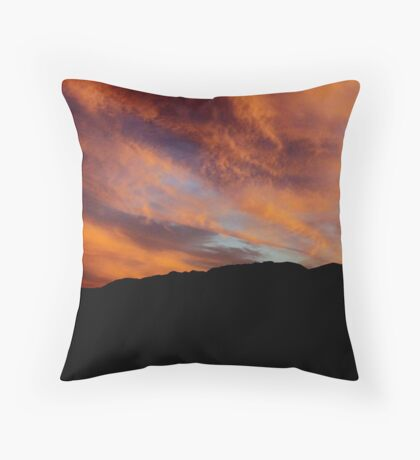 The most dramatic sunset what I have seen Throw Pillow