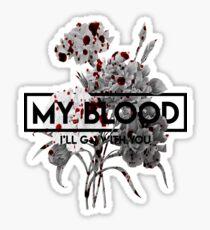 Twenty One Pilots My Blood Floral Sticker