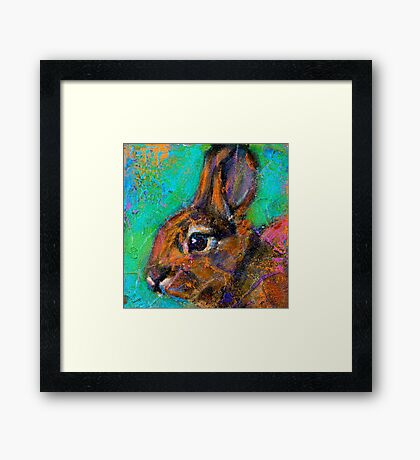 Earth Keeper: Eastern Cottontail Framed Print