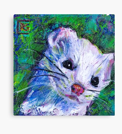 Earth Keeper: Ermine (Short-tailed Weasel) Canvas Print