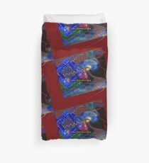 Postcard from Cyberspace Duvet Cover