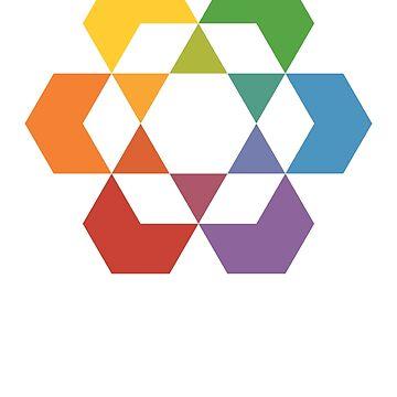 Hexagonal Awareness (dark background) by hexagrahamaton