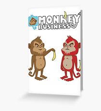 Monkey bussines Greeting Card