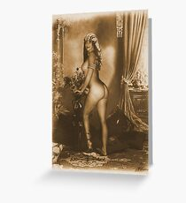 Sexy 1800s Greeting Card