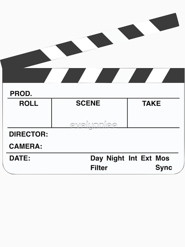 Clapperboard (b&w) by evelynnlee