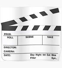 Clapperboard (b&w) Poster