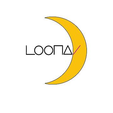 KPOP GIRLGROUP LOONA LOGO TSHIRT/ HOODIE/ CASE/ MUG/ BAG/ PILLOW/ STICKER by LySaVN