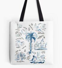 South Carolina Places Blue White Tote Bag