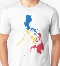 Philippines Filipino Map Sun and Stars Flag Unisex T-Shirt