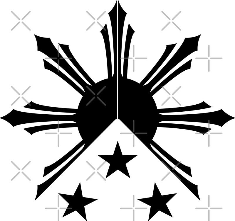 c07cf3cf5ece7 Tribal Philippines Filipino Sun and Stars Flag | Art Print