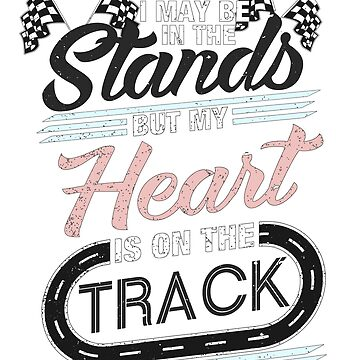 Racing Heart on Track Quarter Midget Dirt Asphalt GREY PINK GRBL by GabiBlaze