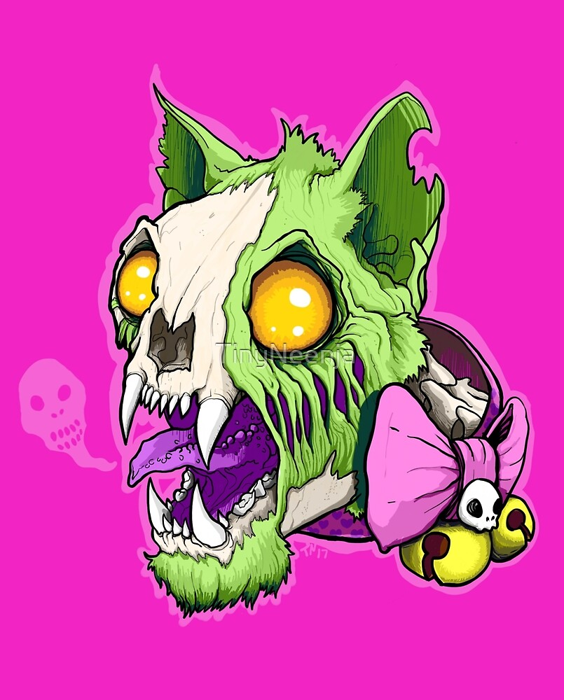 Cuddles the Zombie Cat! by TinyNeenja