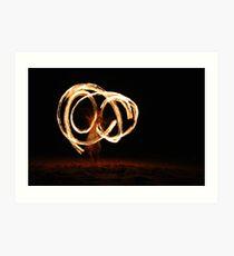 Fire Twirling Art Print