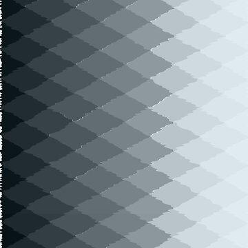 Geometric ombre teal diamonds by hellcom