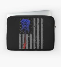 Funda para portátil Guitar Player Gift American Pride Shirt Bandera estadounidense