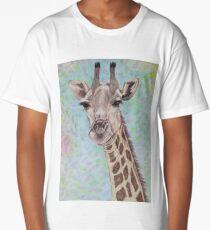 African Giraffe Long T-Shirt