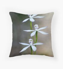 Early Caladenia (Caladenia praecox) Throw Pillow