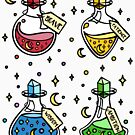 Magic Potion Bottle Collection. Bravery, Ambition, Wisdom, Patience. Red, Green, Yellow, Blue Witch, Wizard Potions, Witches Brew, Halloween, Magical Wand Potions. by tachadesigns