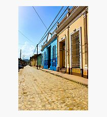 Streets of Trinidad Cuba Photographic Print