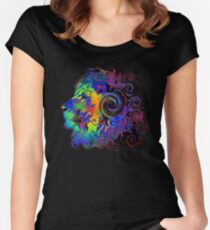 PSYCHEDELIC LION Women's Fitted Scoop T-Shirt