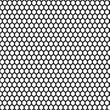 Black and white honeycomb pattern by hellcom