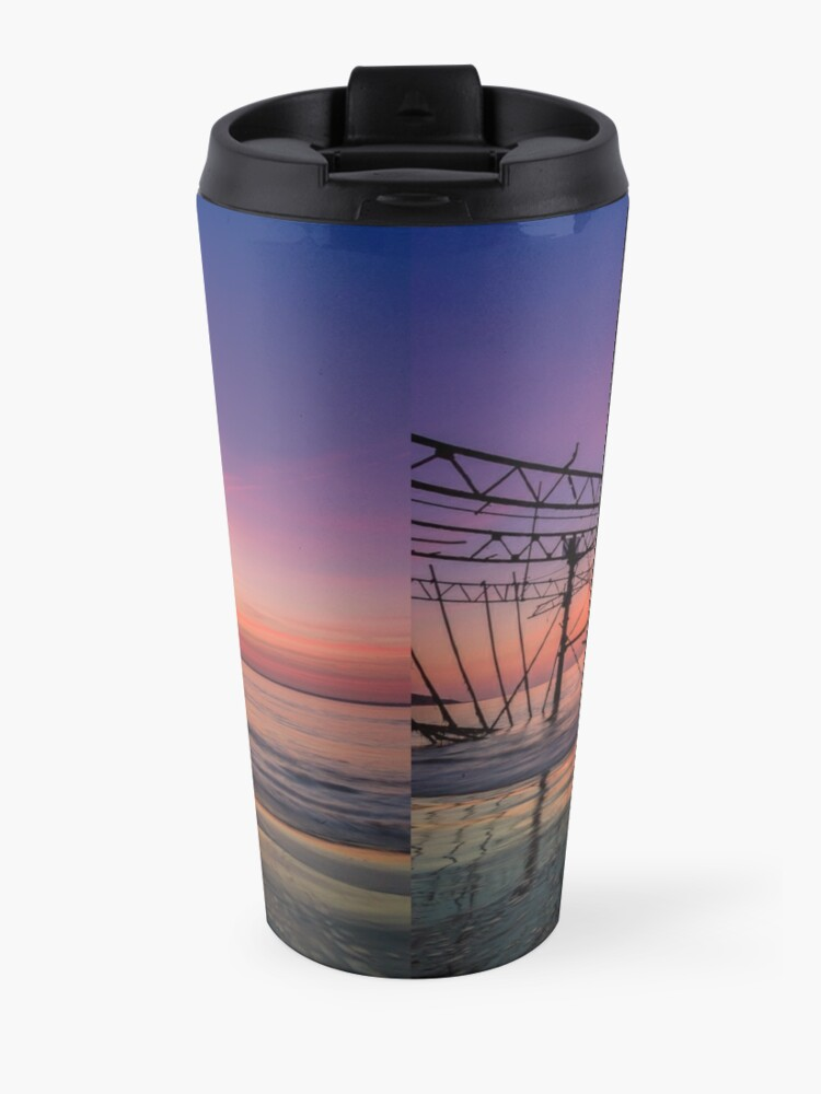 Alternate view of  Totland Pier Caught In The Afterglow Travel Mug