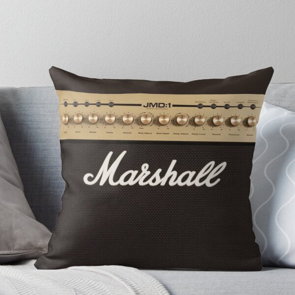 Marshall Guitar Double Amplifier Throw Pillow