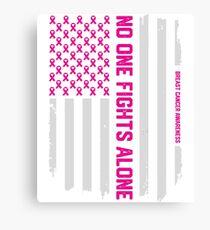 Patriotic American Flag Breast Cancer Awareness Canvas Print