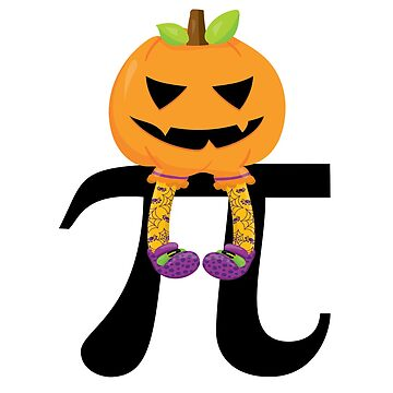 Pumpkin Pi Math Halloween Humor by Ricaso