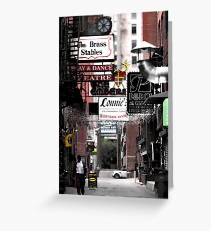 Printers Alley.... Greeting Card