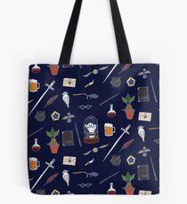Owl and wand night Tote Bag