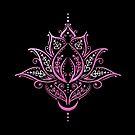 Lotus Blume mit Mond. Yoga. Lila. von Christine Krahl