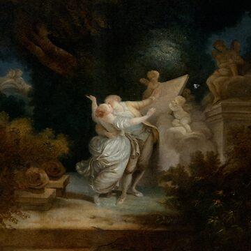 The Sermon of Love-Jean-Honore Fragonard by LexBauer