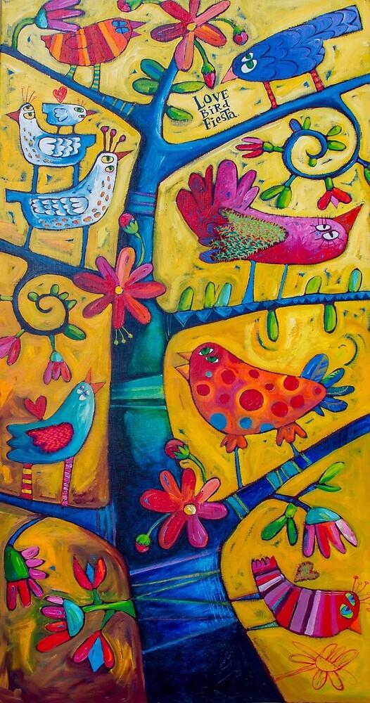 Lovebird Fiesta by Sara Catena