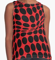 COME INSIDE (RED/BLACK) Blusa sin mangas