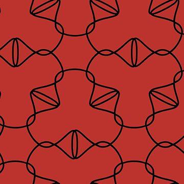 Simple geometric pattern 03 in red by MaijaR
